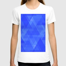 Gentle dark blue triangles in the intersection and overlay. T-shirt