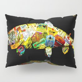FATHER  LIKES FISH AND BOURBON POP ART Pillow Sham