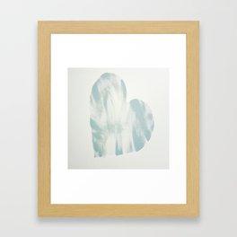 blue, Love Framed Art Print