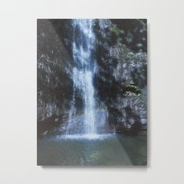 Waterfall With Rainbows Metal Print