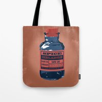spice Tote Bags featuring Spice Trade by Brady Terry