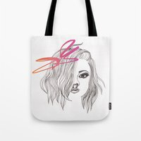 bow Tote Bags featuring Bow by spllinter