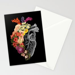 Flower Heart Spring Stationery Cards