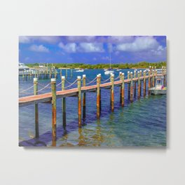 Boat Ramp To Paradise Metal Print