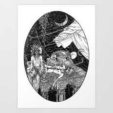 Fleeing Skeleton Art Print