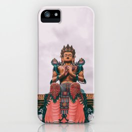 Statue of Maitreya Buddha iPhone Case
