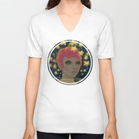 astronaut V-neck T-shirts featuring Astronaut by Edge