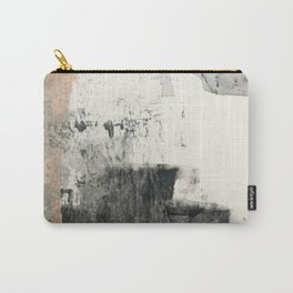 Peace and Quiet [1]: a pretty, minimal abstract piece in gray and peach by Alyssa Hamilton Art Carry-All Pouch