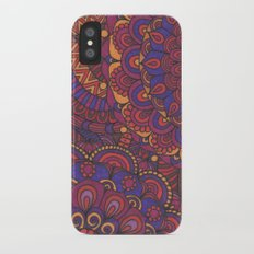 Fall Flowers Slim Case iPhone X