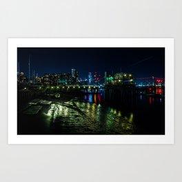 Night at the Docks Art Print