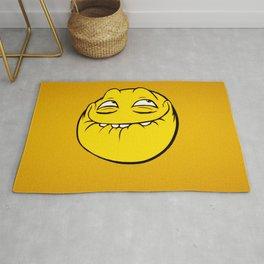 Meme Face Smiley Emoticon Yelow Funny Head Troll Rug