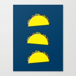 omg tacos! on navy Canvas Print