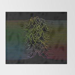 rainbow illustration - sound wave graphic Throw Blanket