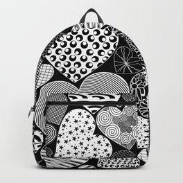 Love Hearts Doodle Art Pattern Backpack