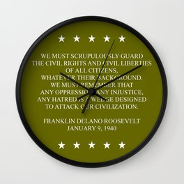 FDR QUOTE Wall Clock