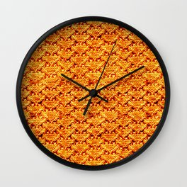 Digital knitting pattern Wall Clock