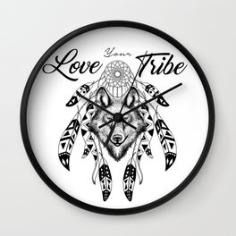 Love your Tribe Wall Clock
