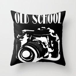 Old School Old School Photo Camera Throw Pillow