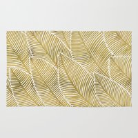 tropical Area & Throw Rugs featuring Tropical Gold by Cat Coquillette