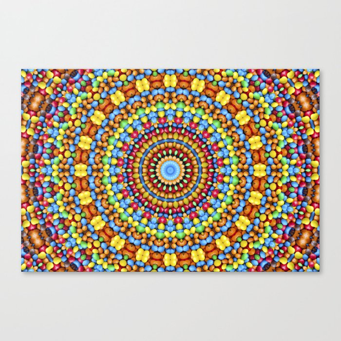 Kaleidoscope Candy Canvas Print