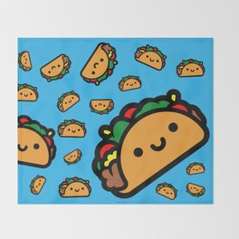 Happy Taco Throw Blanket