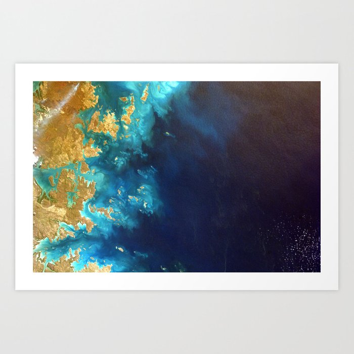 Ocean from above Art Print