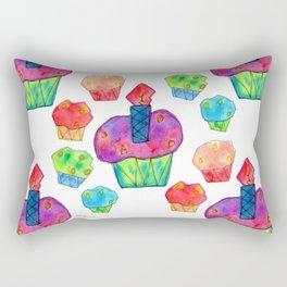 Wish You Tons of Cakes! pattern birthday, party, illustration, celebration, christmas, gift, wedding Rectangular Pillow