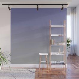Grayish Blue Gray Ombre Wall Mural