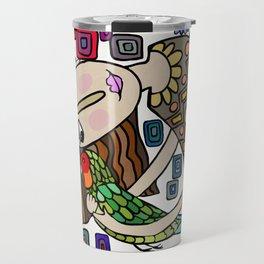 I Love my bird Travel Mug