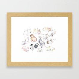 Sleepy French Bulldog Puppies Framed Art Print