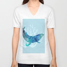 Mystical Whale Unisex V-Neck