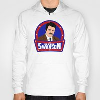 ron swanson Hoodies featuring Ron Swanson by SuperEdu