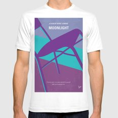 No757 My Moonlight minimal movie poster White LARGE Mens Fitted Tee
