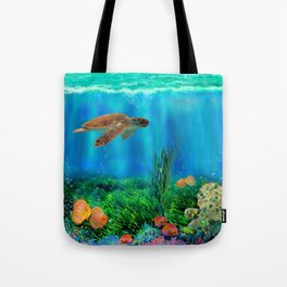 UnderSea with Turtle Tote Bag