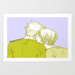 LukeHan New Year's Kisses Art Print