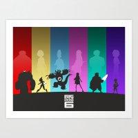 big hero 6 Art Prints featuring The Big Hero 6 by Travis Love