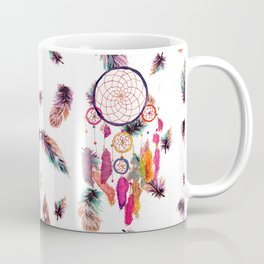 Hipster Watercolor Dreamcatcher Feathers Pattern Coffee Mug