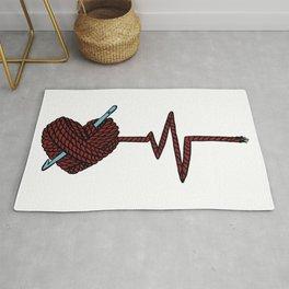 Crochet Heart Yarn Heartbeat Yarn Pulse Rug