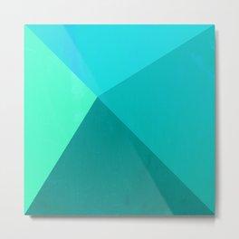 Pyramid - Aqua Metal Print
