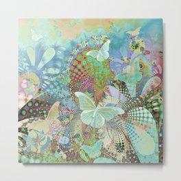 Butterfly Garden Quilt 2 Metal Print