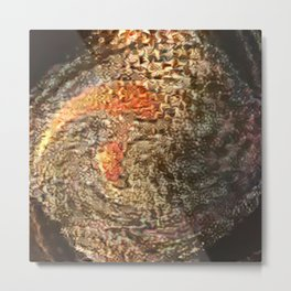 New Fish in Bowl Metal Print