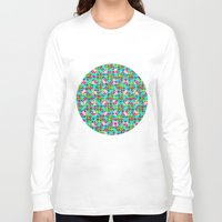 confetti Long Sleeve T-shirts featuring Confetti Plaid by Peter Gross