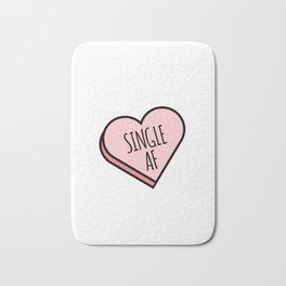 Single AF | Funny Valentine's Candy Heart Bath Mat