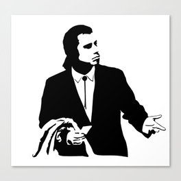 Vincent Vega John Travolta Confused Wallet Canvas Print