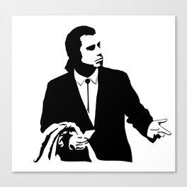Vincent Vega John Travolta Confused Wallet Canvas Print