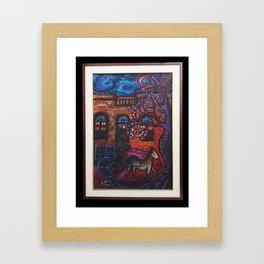 """""""Nocturno con Carro"""" Framed Art Print"""