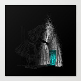 Follow The White Rabbit Canvas Print