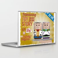 toy story Laptop & iPad Skins featuring Toy Story Soda Cans by Oneskillwonder