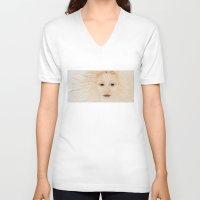 venus V-neck T-shirts featuring Venus by Jill Farrer