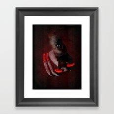 Grunge Bang Bang Red Nails  Framed Art Print